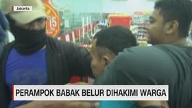 VIDEO: Perampok Babak Belur Dihakimi Warga