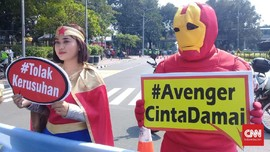 Ada Sidang MK, 'Avengers' Berkumpul Serukan Perdamaian