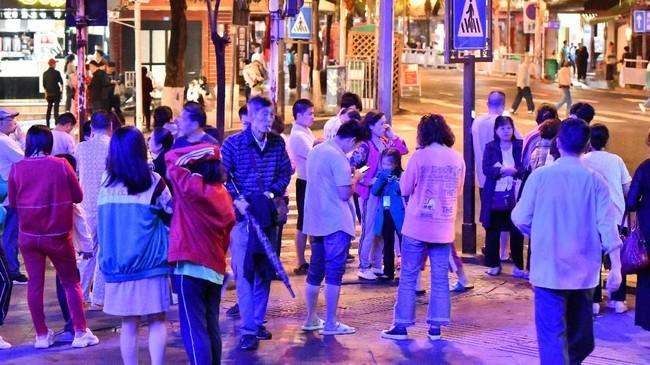 Gempa bumi berkekuatan 6 skala Richter yang mengguncang wilayah barat daya China pada Selasa (18/6). (China Daily via REUTERS)
