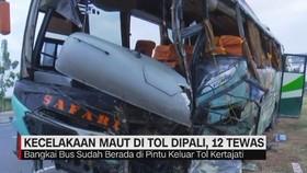VIDEO: Kondisi Bus Kecelakaan Tol Cipali, 12 Orang Tewas