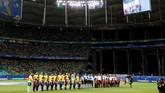 Brasil dan Venezuela menjalani laga kedua Copa America di Arena Fonte Nova. Dalam laga pertama Brasil menang 3-0 atas Bolivia dan Venezuela bermain imbang 0-0 dengan Peru. (REUTERS/Rodolfo Buhrer)