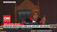 VIDEO: Hakim MK Minta Bukti Fisik 17,5 Juta DPT Tak Wajar