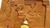 Para seniman menghasilkan 40 patung dalam berbagai ukuran, mulai dua sampai enam meter. (REUTERS/Yves Herman)