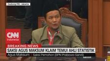 VIDEO: Saksi Agus Maksum Klaim Temui Ahli Stastistik