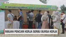 VIDEO: Ribuan Pencari Kerja Serbu Bursa Kerja