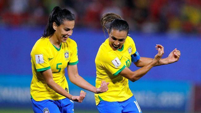 Marta Pertajam Rekor, Brasil Kalahkan Italia