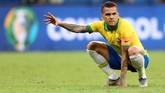 Gagal meraih kemenangan atas Venezuela, Brasil masih memimpin klasemen Grup A dengan empat poin dengan tiga gol dan belum kebobolan atau lebih baik ketimbang Peru yang memiliki empat poin dan selisih tiga gol berbanding satu kali bobol. (REUTERS/Rodolfo Buhrer)