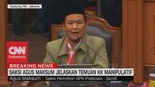 VIDEO: Saksi Agus Maksum Jelaskan Temuan KK Manipulatif