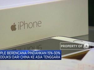 Apple Berencana Pindahkan Produksi dari China ke Asia
