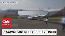 VIDEO: Pesawat Malindo Air Tergelincir