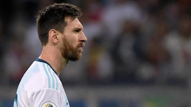 FOTO: Messi Cetak Gol, Argentina Tetap Jadi Juru Kunci