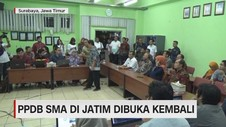 VIDEO: PPDB SMA Jatim Dibuka Kembali