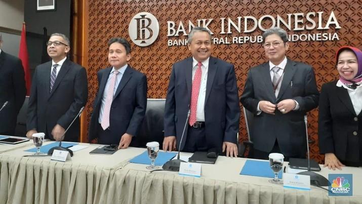 Bank Indonesia (BI) kembali menahan suku bunga acuan di level 6% di Juni 2019.