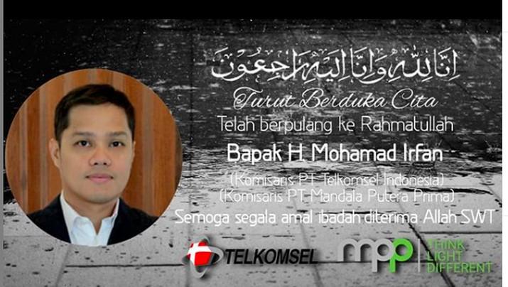 Kabar Duka, Putra Ketua MA & Komisaris Telkomsel Berpulang