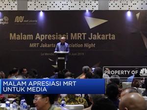 MRT Jakarta Berikan Penghargaan Pada CNBC Indonesia