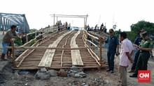 Jembatan Darurat Dibangun Pulihkan Jalur Putus Sumsel-Lampung