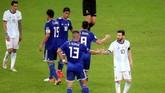 Argentina dan Paraguay harus puas dengan hasil imbang 1-1. Paraguay berada di peringkat kedua klasemen, sementara Argentina berada di posisi juru kunci. (REUTERS/Edgard Garrido)