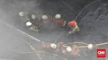 Pabrik Gudang Limbah Plastik di Kalideres Terbakar