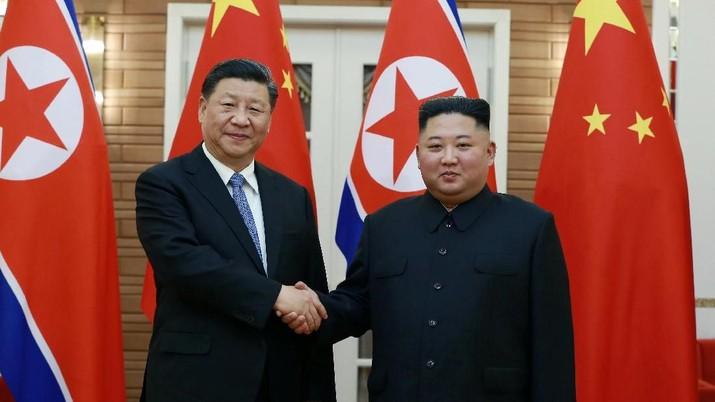 Meriahnya Sambutan Kim Jong Un untuk Xi Jinping di Korut