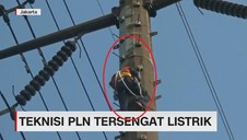VIDEO: Teknisi PLN Tersengat Listrik