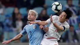 Uruguay Diimbangi Jepang 1-1 di Babak Pertama Copa America