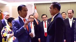 Tiba di Bangkok, Jokowi Langsung Temui PM Thailand