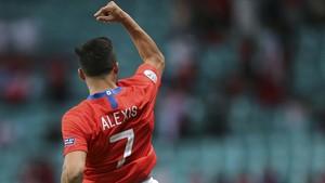 FOTO: Alexis Sanchez Pahlawan Kemenangan Chile atas Ekuador