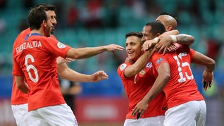 Hasil Copa America 2019: Chile Menang 2-1 atas Ekuador