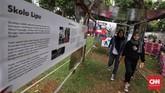 Acara bertajuk 'Semasa Piknik dan Pasar Raia Keliling' ini digelar oleh Dewan Kerajinan Nasional (Dekranasda) Pemprov DKI untuk memperingati HUT DKKI Jakarta ke-492. (CNN Indonesia/Hesti Rika)