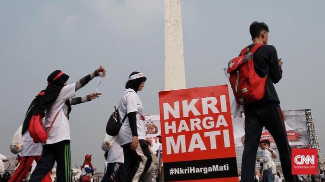 Acara ini juga digelar untuk acara juga digelar untuk merajut kembali persatuan dan kesatuan Indonesia khususnya generasi milenial. (CNN Indonesia/Andry Novelino)