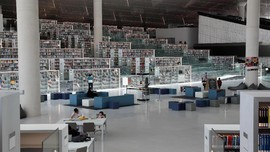 Surga Pecinta Buku di Perpustakaan Mewah Qatar