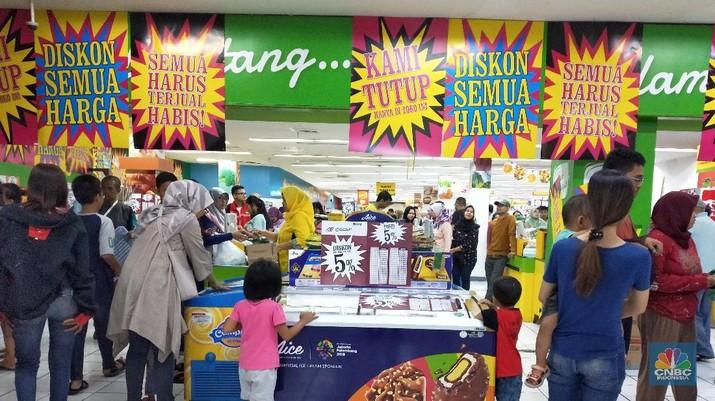 PT Hero Supermarket Tbk (HERO) tampaknya akan kembali menutup salah satu gerai supermarket Giant.