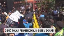 VIDEO: Demo Tolak Permendikbud Soal Zonasi Diwarnai Kericuhan