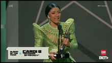 VIDEO: Cardi B Jadi Pemenang Utama BET Awards 2019