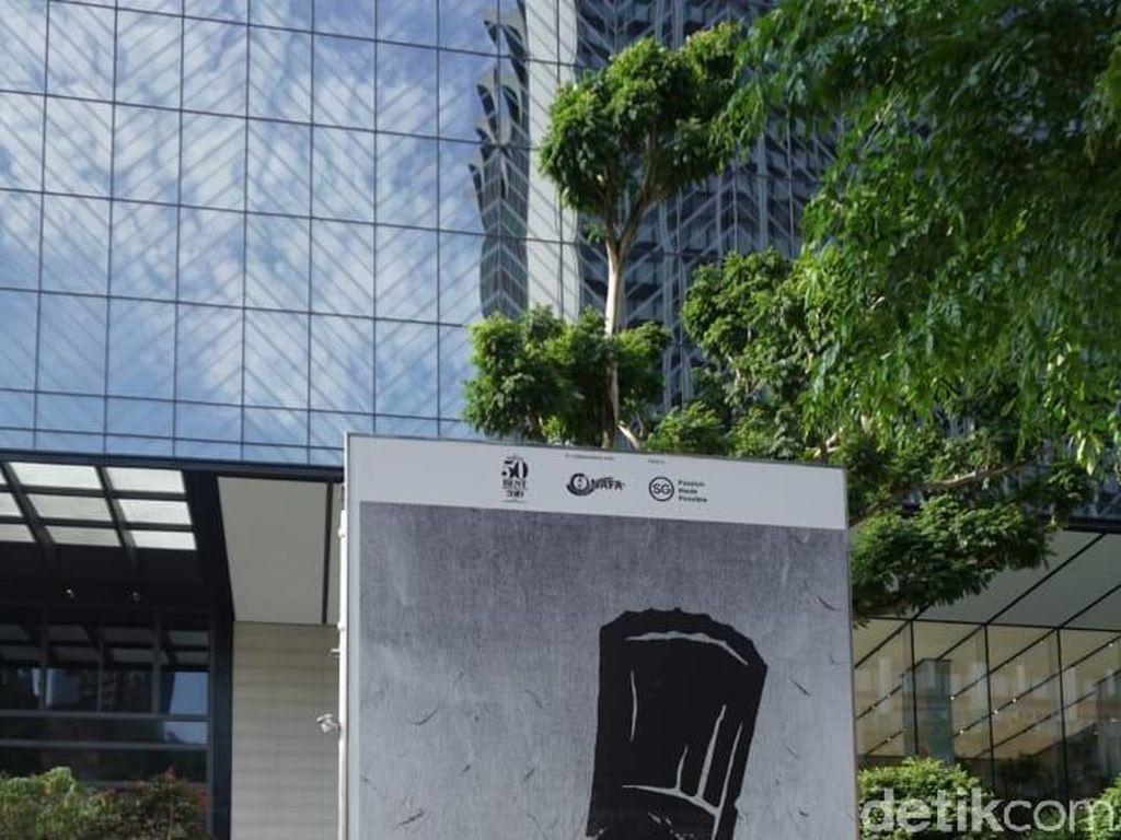 Judulnya Thank You, karya dari Quek Jia Yi terinpsirasi dari top 6 restaurant di Singapura seperti Odette, Burnt Ends hingga Corner House. Foto: dok. detikFood/ Lusiana Mustinda