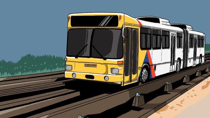 Wacana pengembangan O-Bahn untuk mengatasi macet masih sebatas kajian, dan akan ada studi banding.