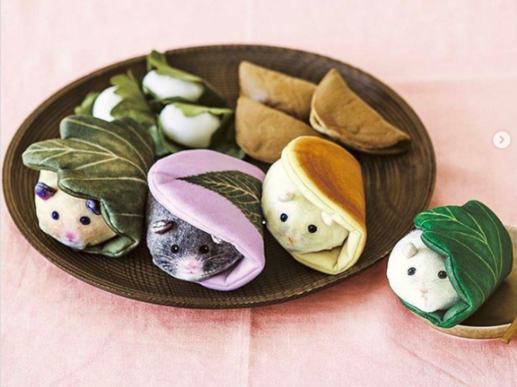 Lucu dan menggemaskan si mochi dengan bentuk hamster. (Foto: Brightside)