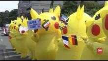 VIDEO: 'Pikachu' Desak Jepang Setop Proyek Batubara
