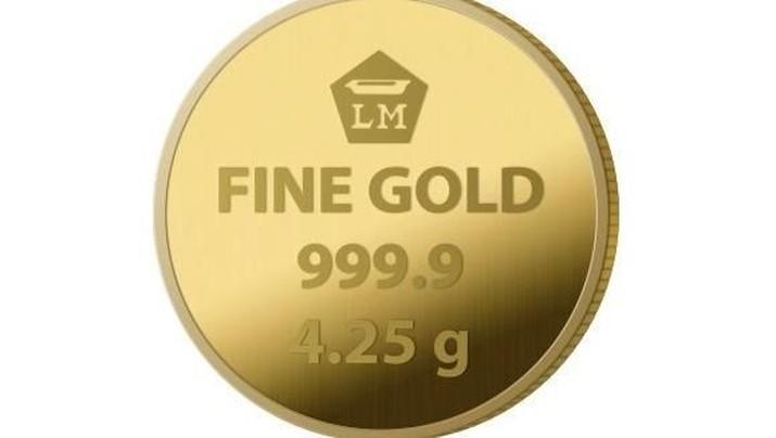 Surutnya spekulasi pemangkasan suku bunga The Fed hingga 50 basis poin (bps) menekan harga emas sekaligus memicu penguatan dolar AS.