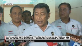 VIDEO: Menkopolhukam Larang Demonstrasi di Sidang Putusan MK