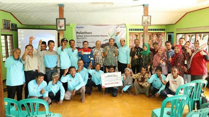 CSR Pertamina yang mendukung program pemerintah dalam rangka menjaga Ketahanan Pangan Nasional, kembali memberikan bantuan.