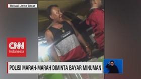 VIDEO: Viral! Polisi Marah-Marah Diminta Bayar Minuman