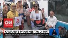 VIDEO: Ibu-Ibu Kampanye Pakai Kebaya di MRT