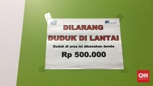Duduk di Lantai Stasiun MRT Bakal Didenda Rp500 Ribu