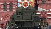 Sistem rudal pertahanan udara buatan Rusia, S-400, menjadi pemicu perselisihan Turki dan Amerika Serikat. Turki yang merupakan anggota NATO berkeras membeli alutsista itu. (Kirill KUDRYAVTSEV / AFP)