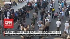 VIDEO: Ratusan Massa Mulai Unjuk Rasa di Gedung MK