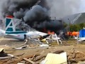 VIDEO: Pesawat Rusia Terbakar, Dua Orang Tewas