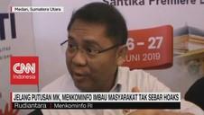 VIDEO: Menkominfo Imbau Masyarakat Tak Sebar Hoaks