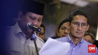 Sandiaga Wakili Prabowo di Sidang Tahunan MPR Besok