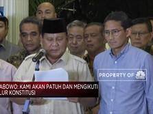 Meski Kecewa, Prabowo Patuh Pada Putusan MK